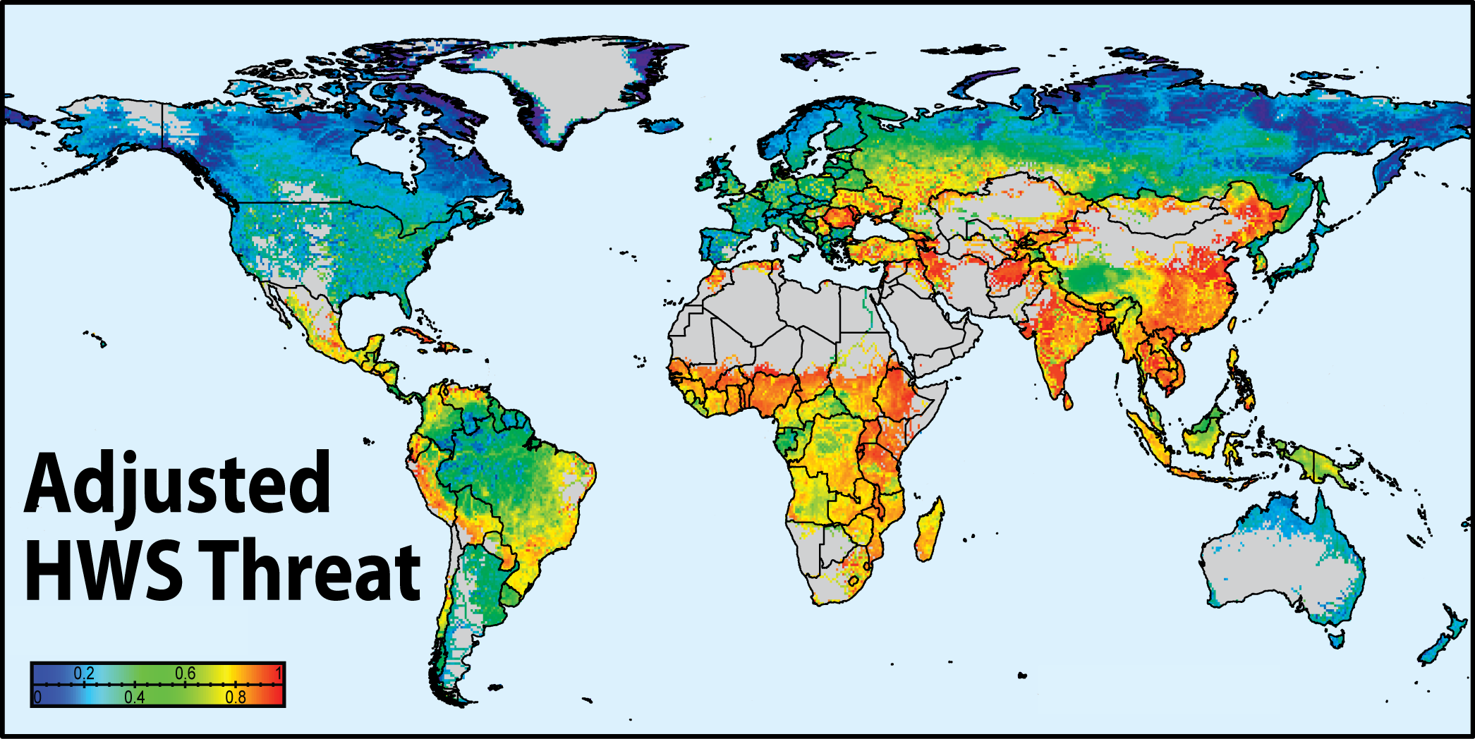 Global Threats To Human Water Security And River Biodiversity - Map of water quality in us
