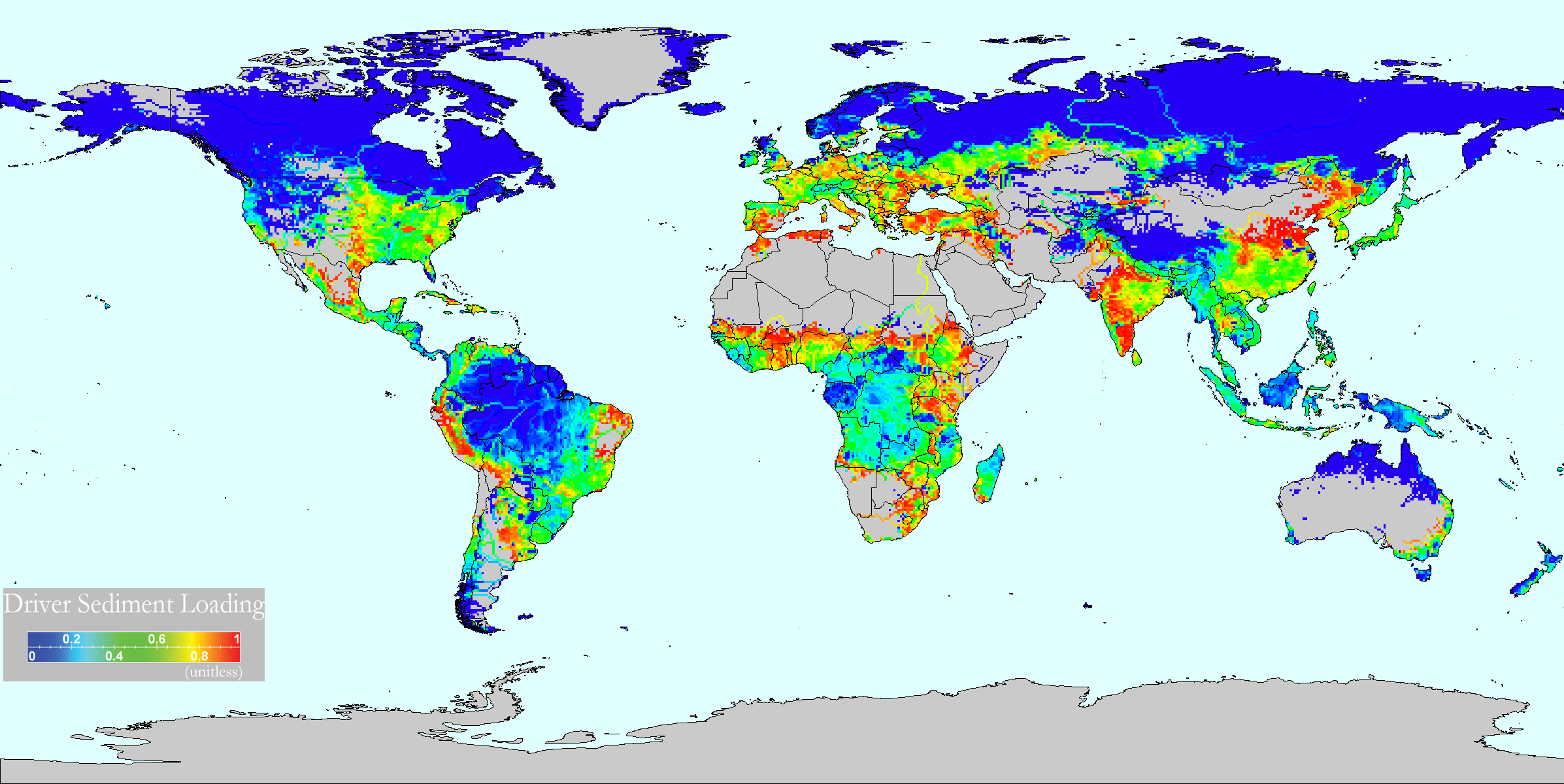 Global threats to human water security and river biodiversity global maps of driver scores gumiabroncs Image collections